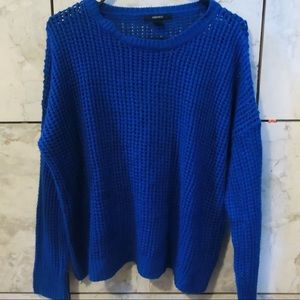Blue knitted sweater